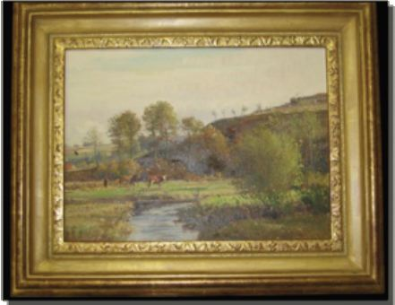 Beautiful 19th century pastoral oil painting